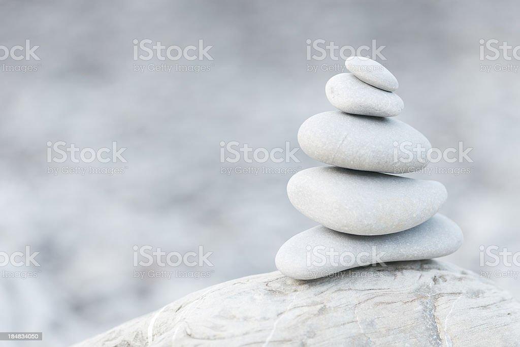 Pebbles, balance and Zen stock photo