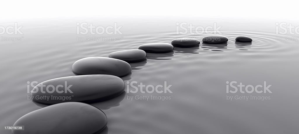 Pebbles in Water I stock photo