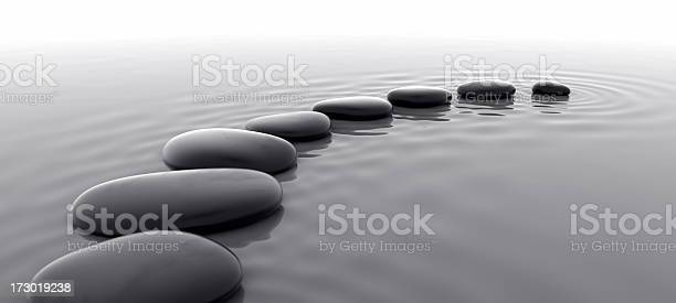 Pebbles In Water I Stock Photo - Download Image Now