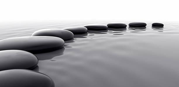 Pebbles in Water II stock photo