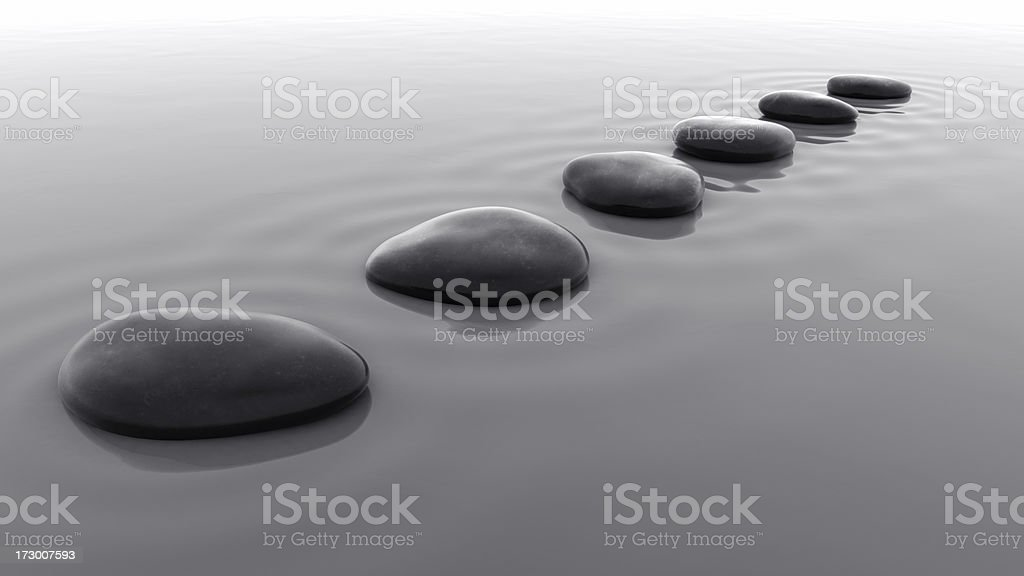 Pebbles in Water IV stock photo