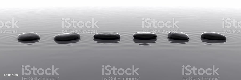 Pebbles in Water V stock photo