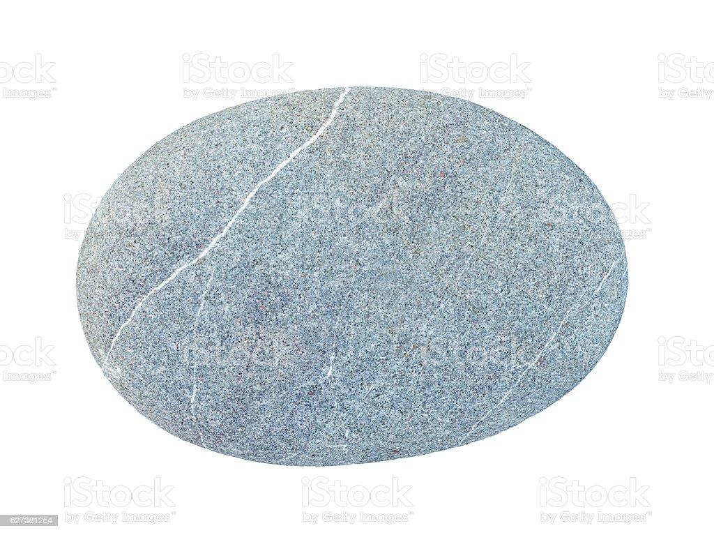 Pebbles, isolated on white background stock photo