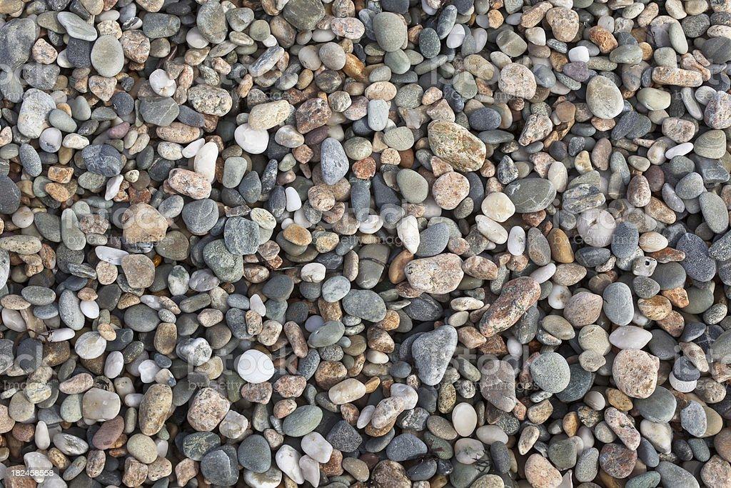 Pebbles on a Beach royalty-free stock photo
