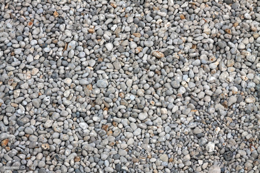 Pebbles on a beach, view from above royalty-free stock photo