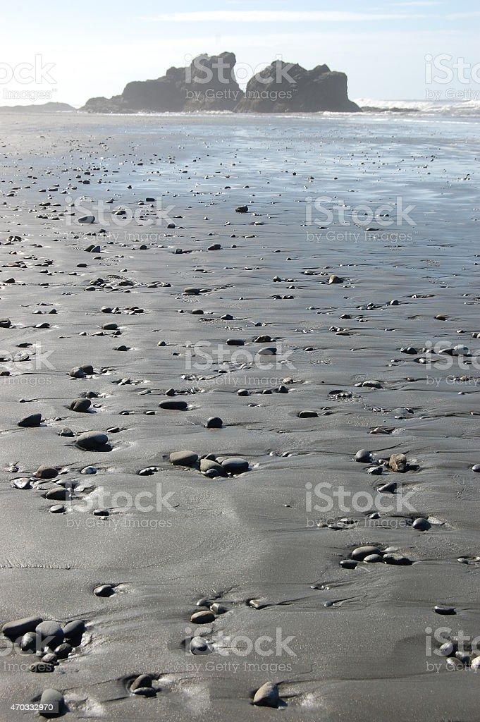 Pebbles on Ruby Beach stock photo