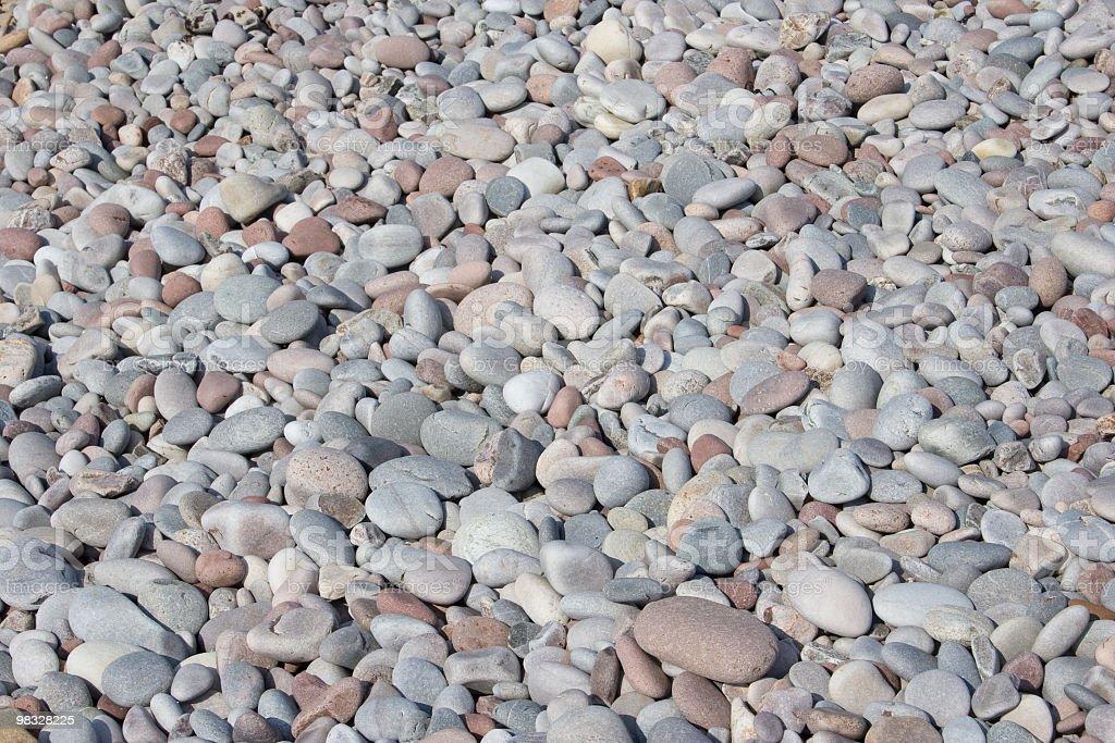 Pebbles on seashore royalty-free stock photo