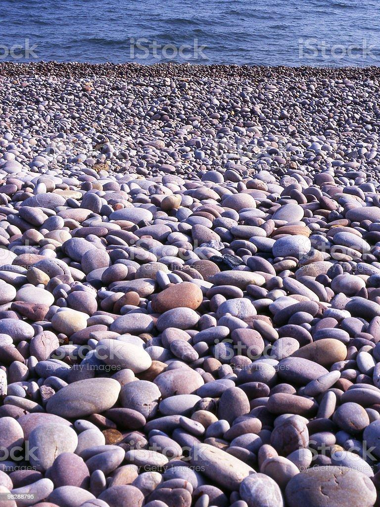 Pebbles on shingle beach royalty-free stock photo