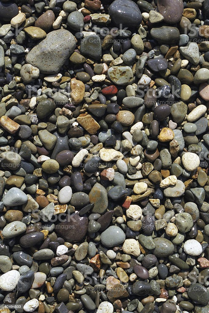 Pebbles on the beach royalty-free stock photo
