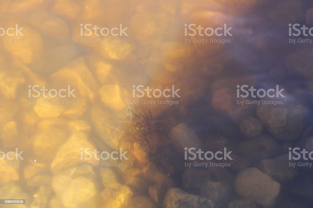pebbles on the tide royalty-free stock photo