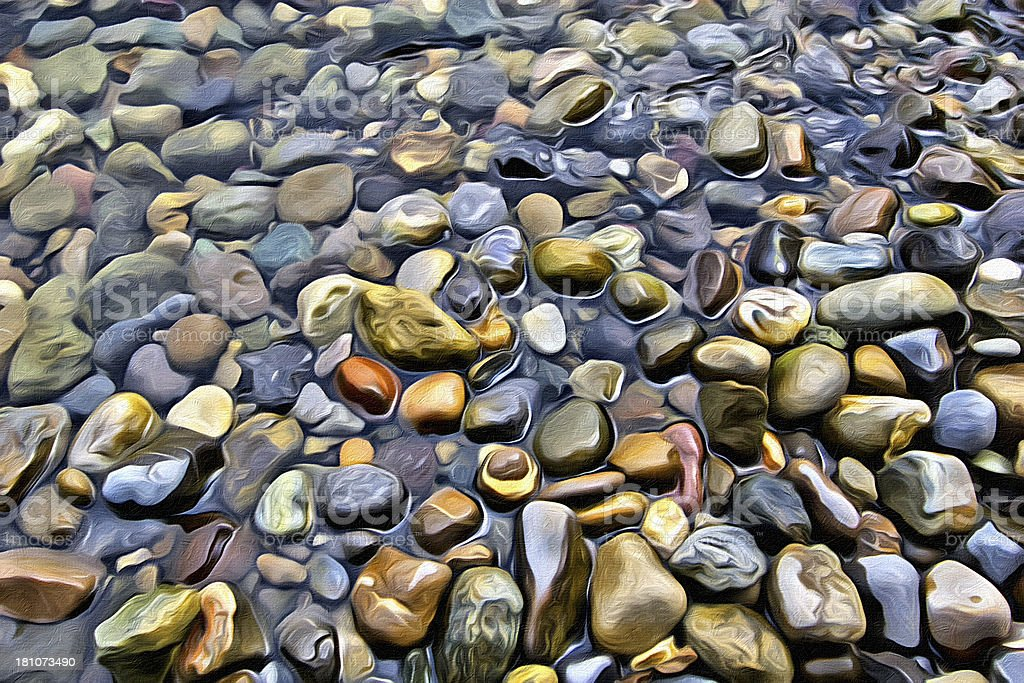 Pebbles Painting royalty-free stock photo