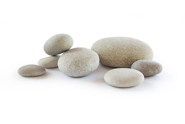 Pebbles Pebbles, isolated on white stone object stock pictures, royalty-free photos & images