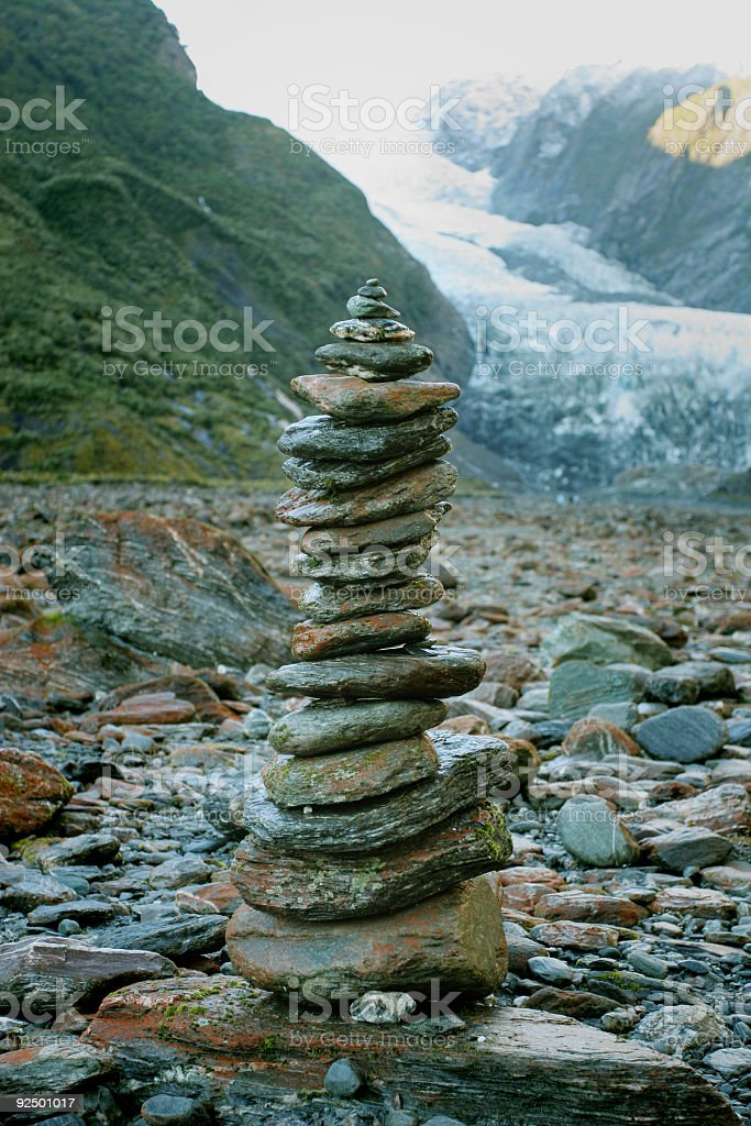 Pebbles & Rocks stacked up royalty-free stock photo