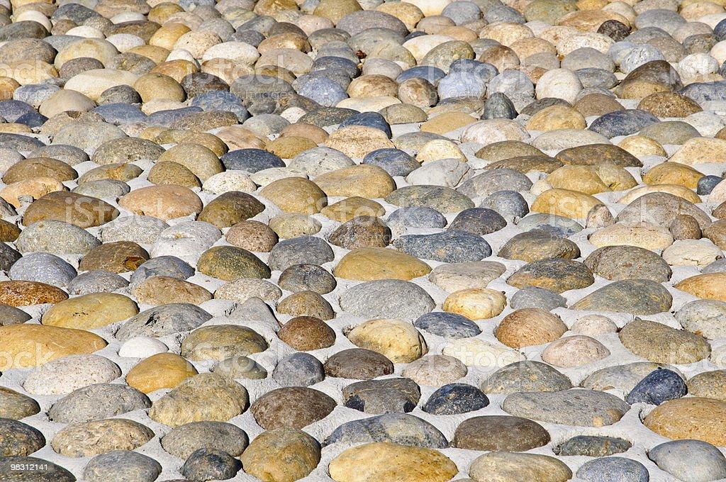 Pebbles stones pavement royalty-free stock photo