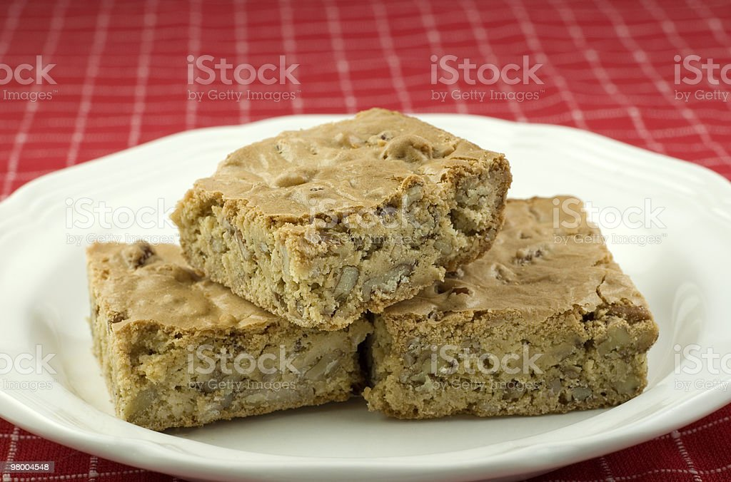 Pecan Caramel Bars royalty-free stock photo