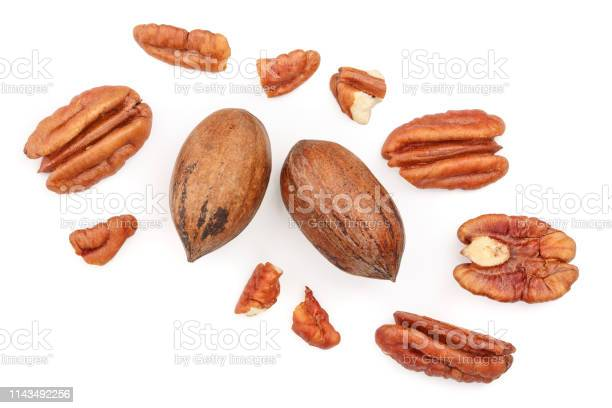 Pecan nut isolated on white background top view flat lay picture id1143492256?b=1&k=6&m=1143492256&s=612x612&h=ryaf  mvwvljygrye1uf0kaw i3r73jtqf9upqm4wws=