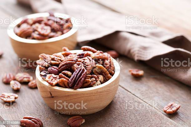 Pecan nuts in wooden bowel on wooden picture id512745684?b=1&k=6&m=512745684&s=612x612&h= 7 9kv igkixiraf4oo2s e6fbud xbrj8i6jtvlv30=