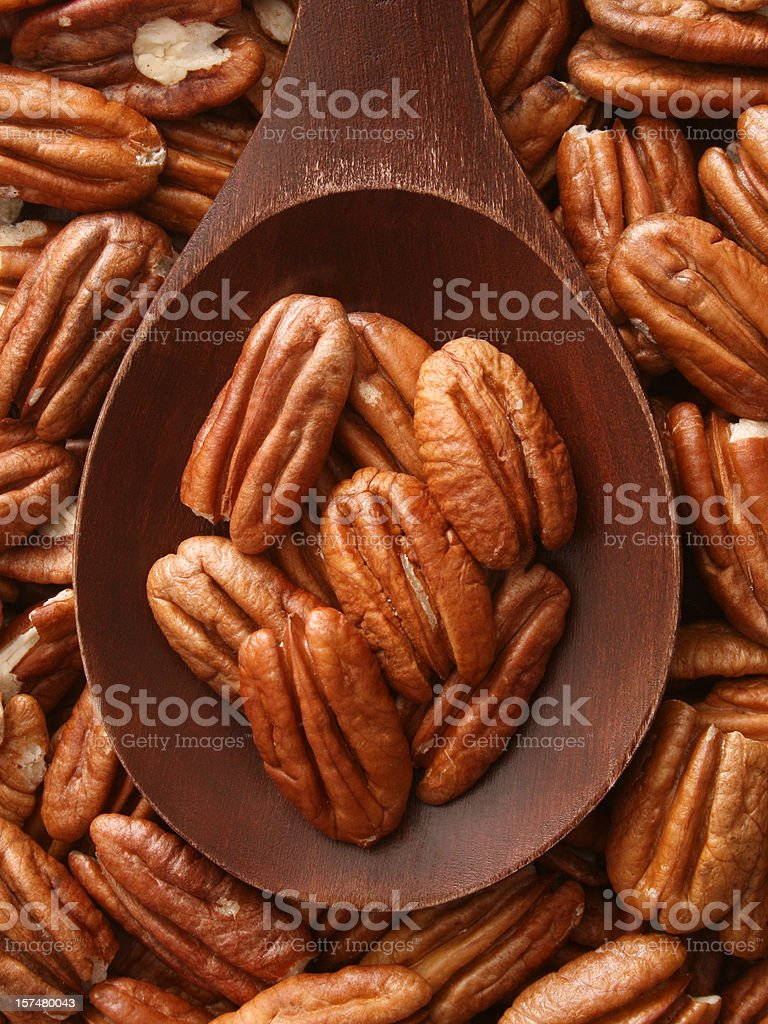 Pecan nuts royalty-free stock photo