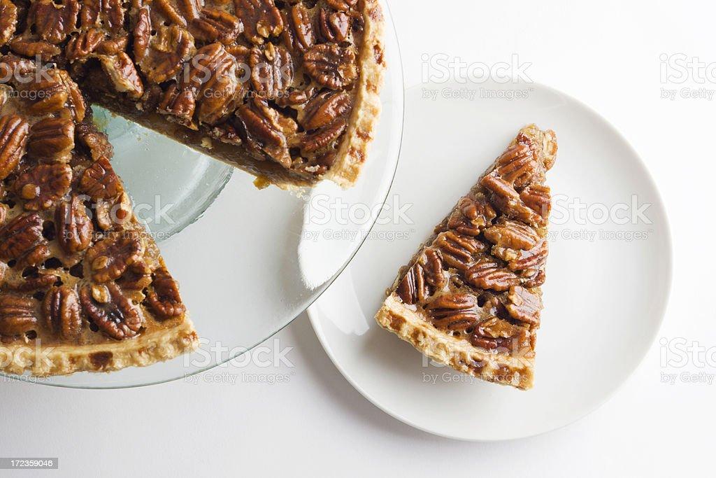 Pecan Pie on White royalty-free stock photo