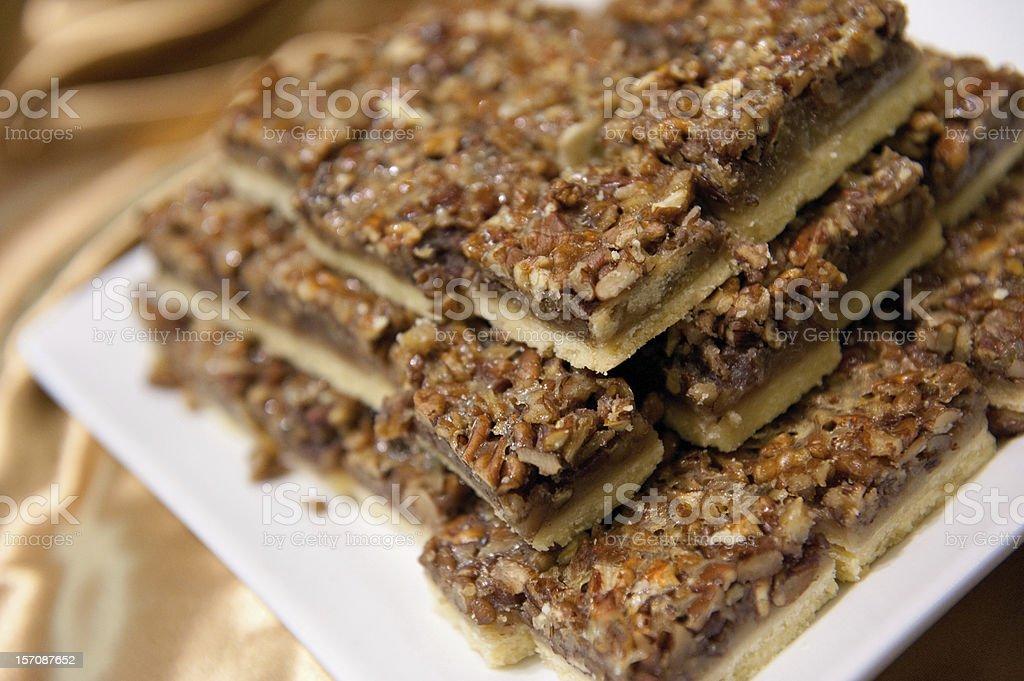 Pecan Square Dessert stock photo