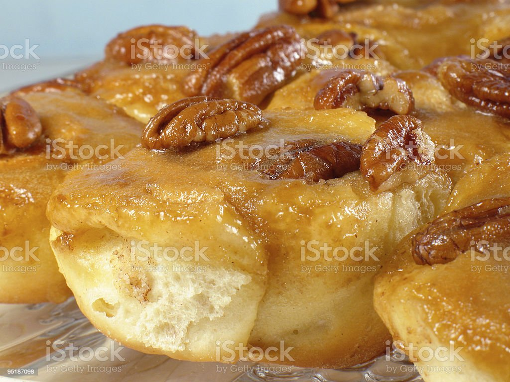 Pecan Sticky Buns royalty-free stock photo