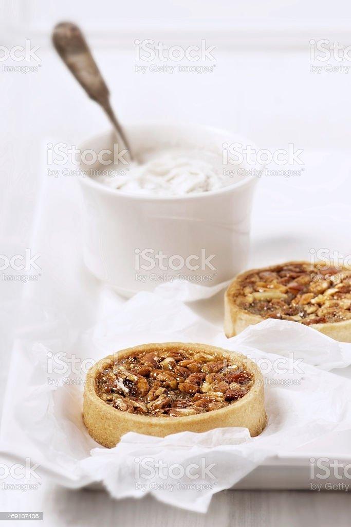 Pecan tart stock photo