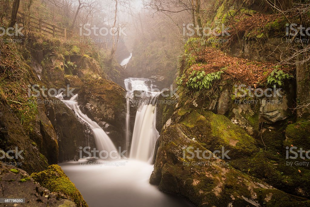 Pecca Falls Waterfall In The Mist. stock photo
