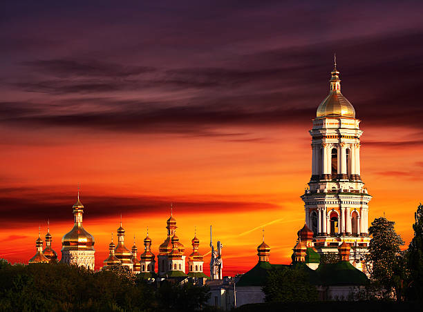 Pechersk Lavra Monastery stock photo