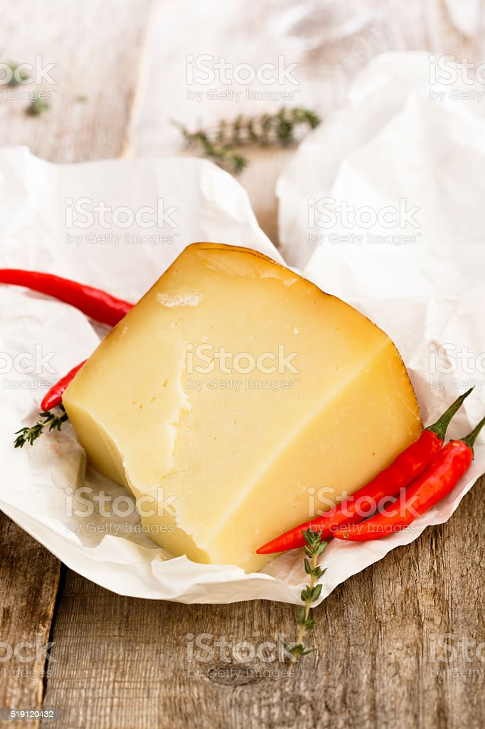 Pecorino cheese stock photo