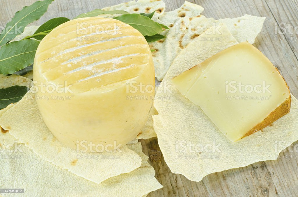 Pecorino Sardo cheese stock photo