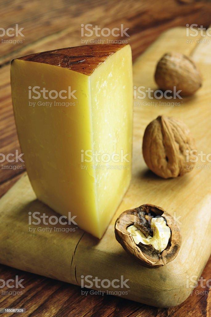 Pecorino toscano, italian sheep cheese, typical of Tuscany royalty-free stock photo