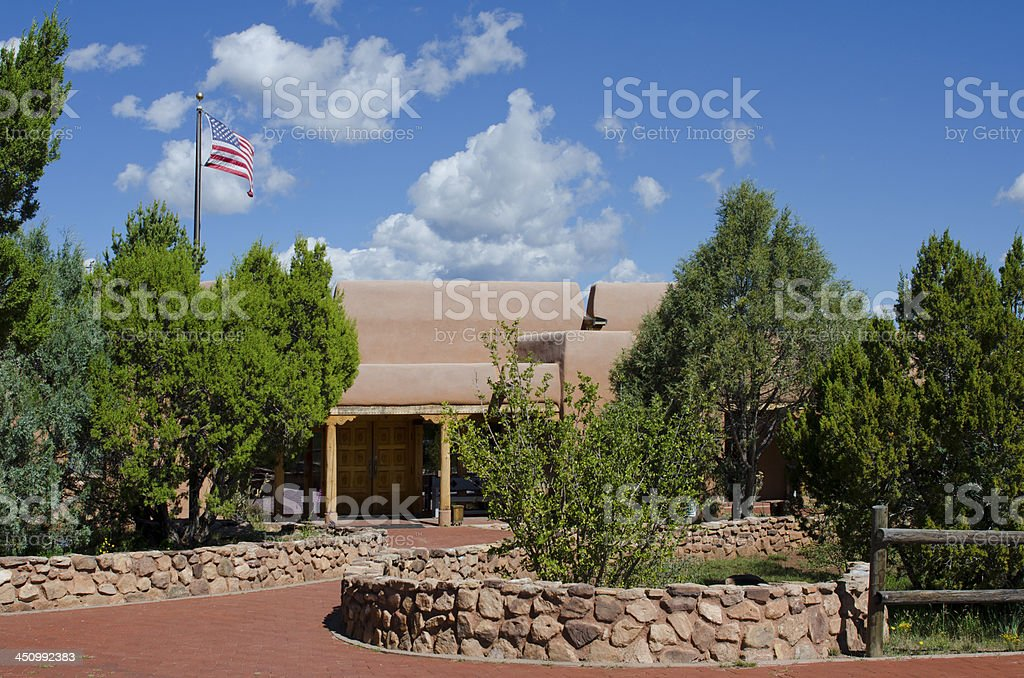 Pecos National Historical Park Visitors Center stock photo