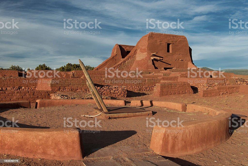 Pecos Pueblo Mission ruins royalty-free stock photo