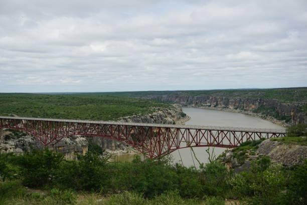 Pecos River Bridge stock photo