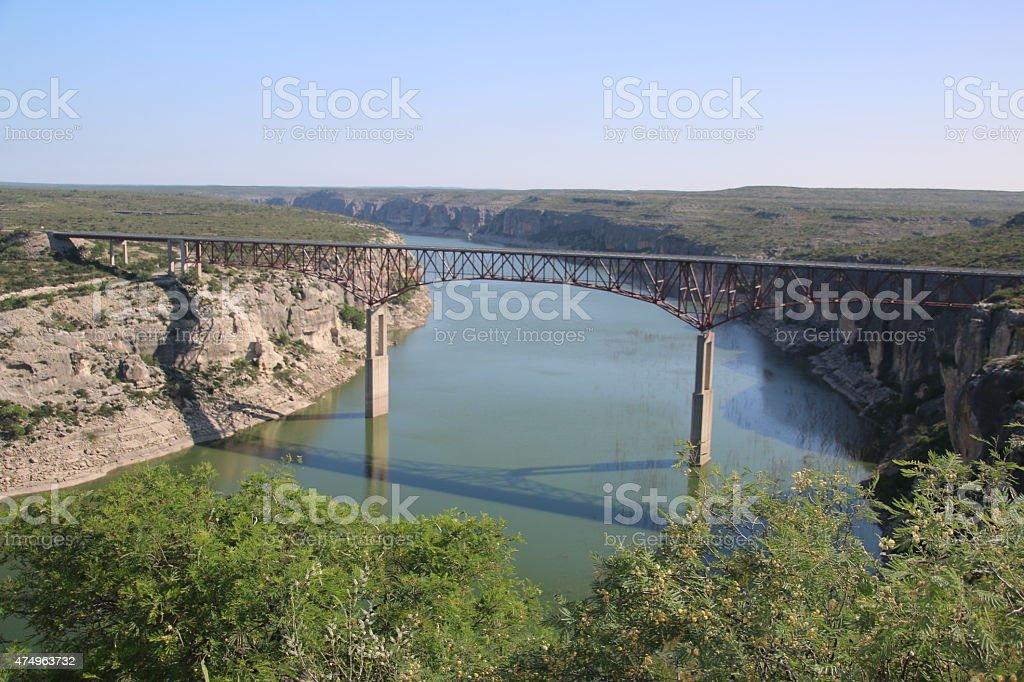 Pecos River Bridge - Texas stock photo