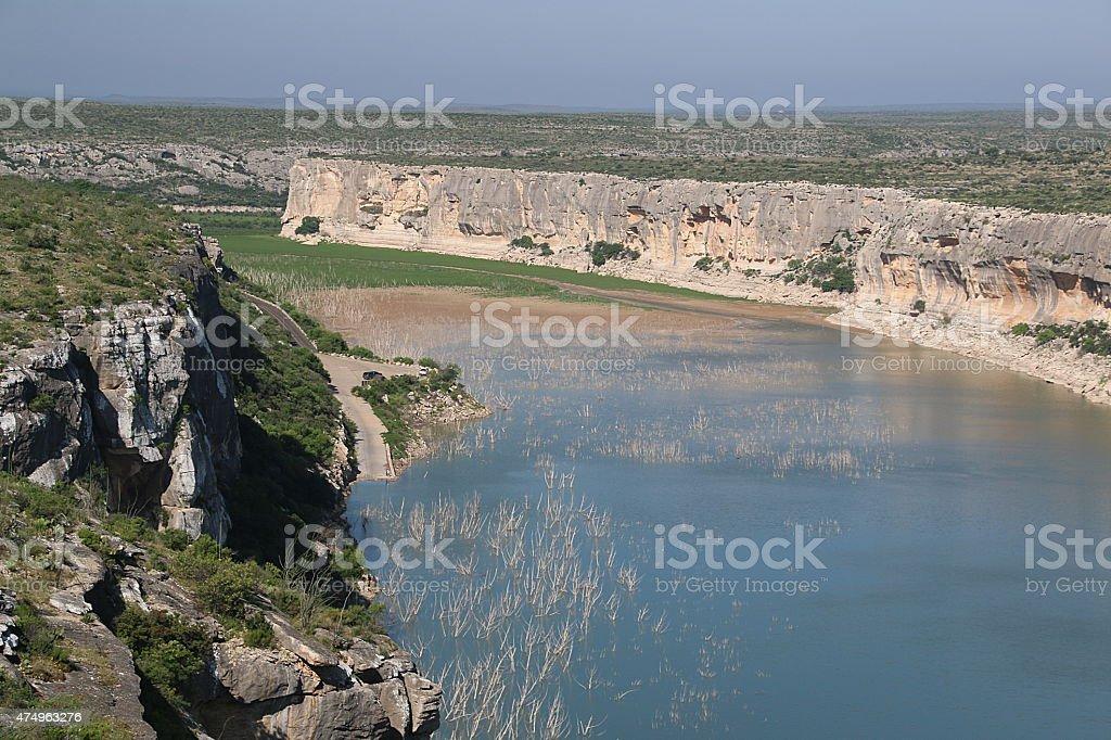 Pecos River Canyon - Texas stock photo