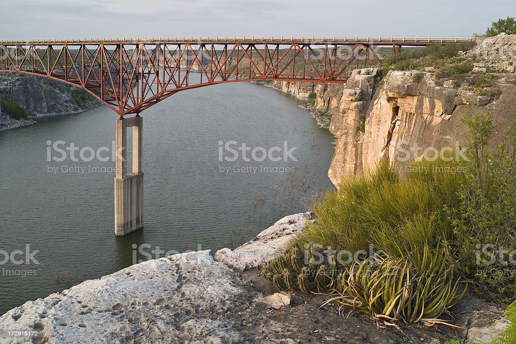 Pecos River High Bridge stock photo