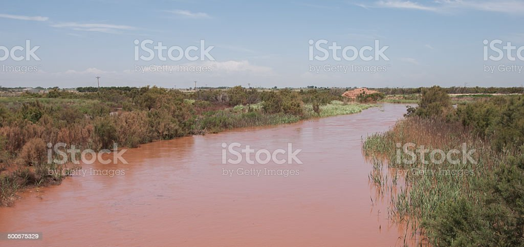 Pecos River in Southern New Mexico stock photo