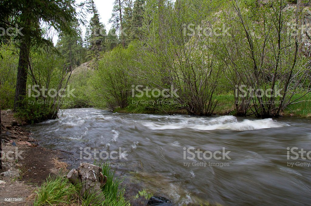 pecos river, new mexico stock photo