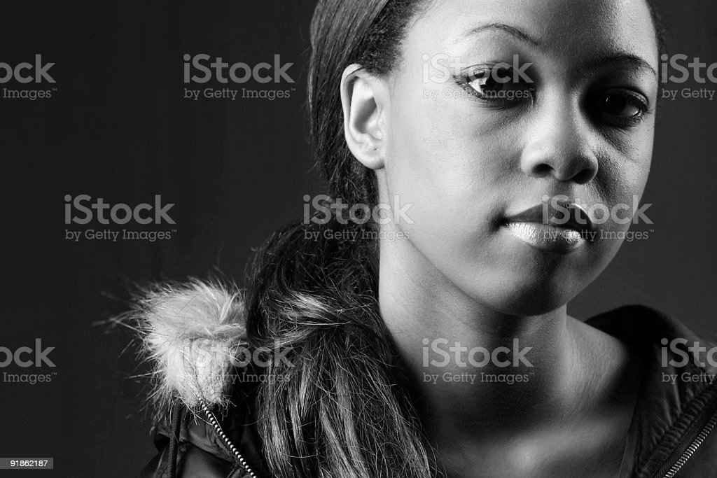 Peculiar Facial Expression by Young Girl. royalty-free stock photo