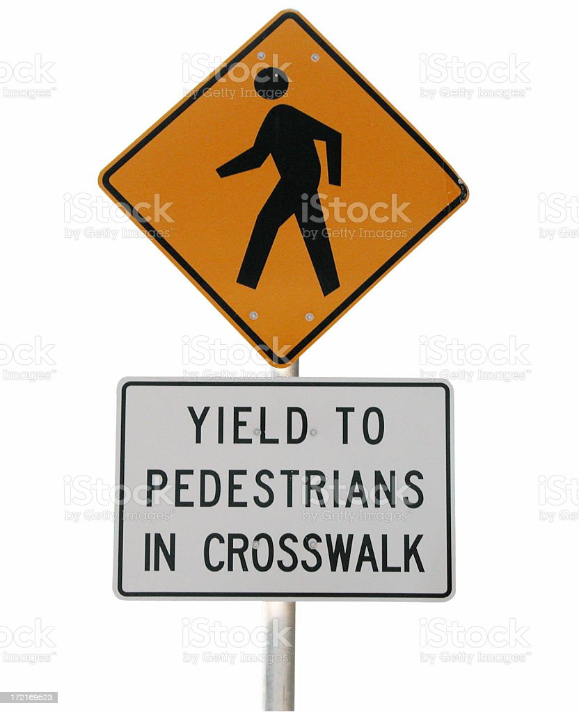 Ped Xing w/ path royalty-free stock photo
