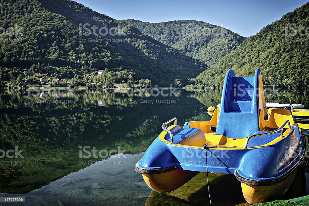 Pedal boat royalty-free stock photo