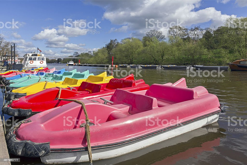 Pedal boats, Chester royalty-free stock photo
