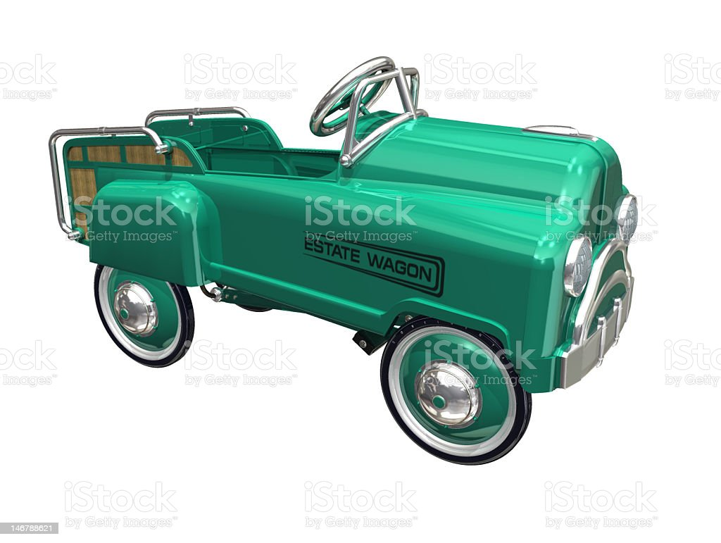 pedal car stock photo