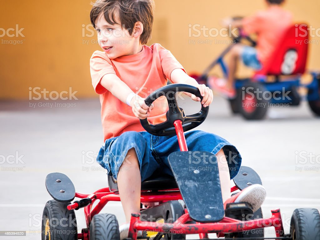 pedal cart stock photo