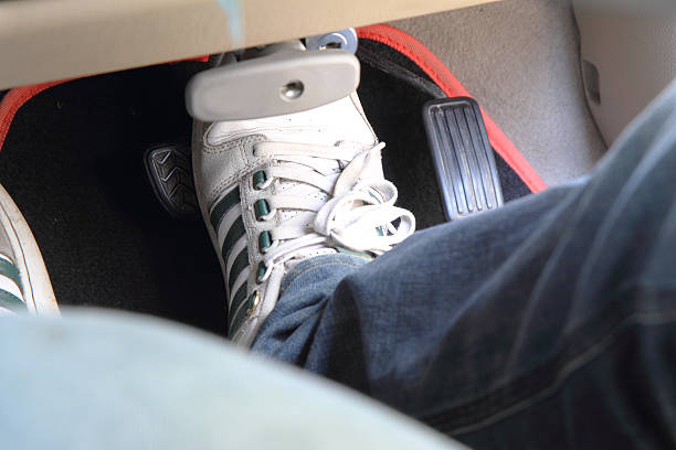 pedal of the car stock photo