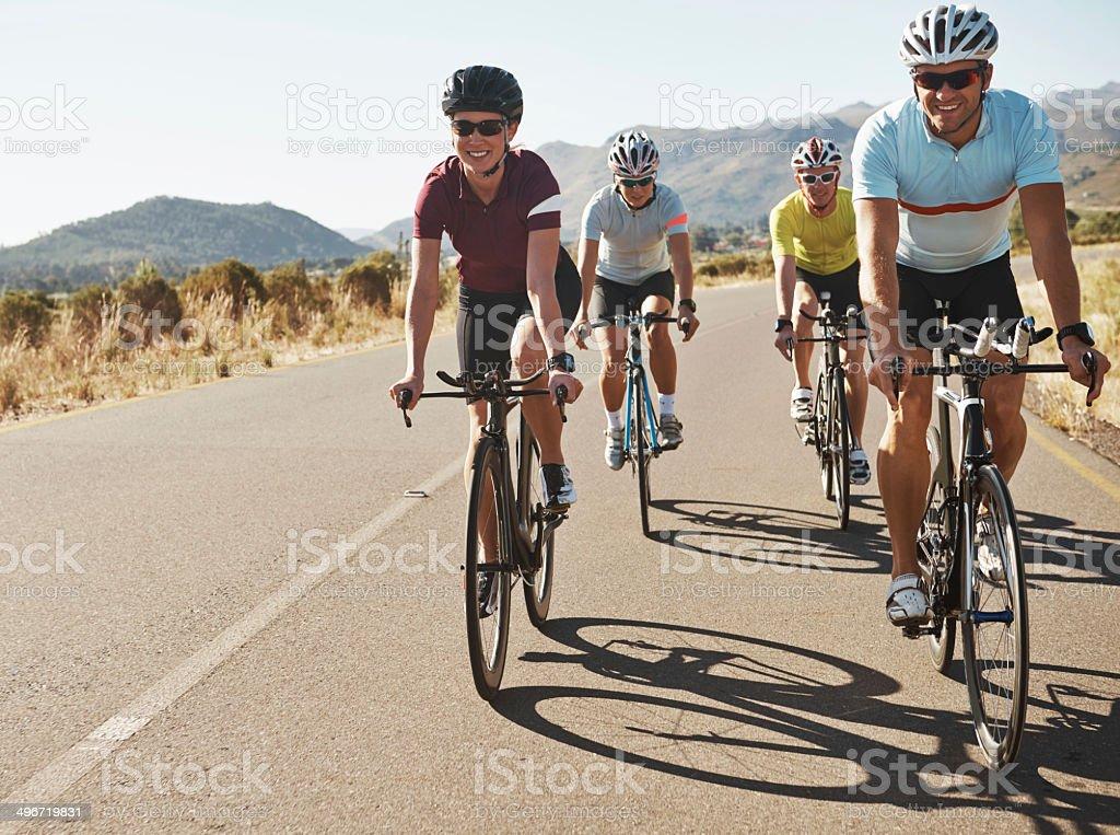Pedal powered positivity stock photo