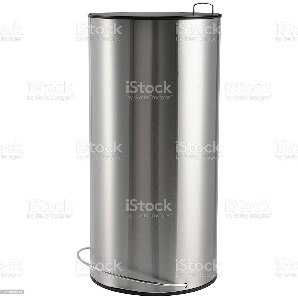 Pedal Trash Bin in Stainless Steel stock photo