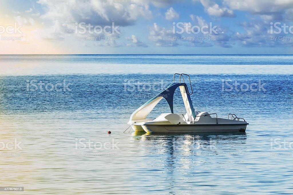 Hidropedal en el mar - foto de stock