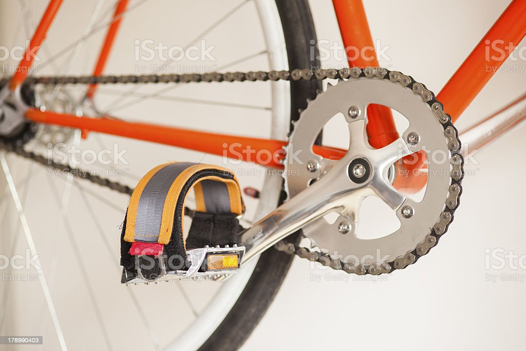 Pedals Of Bike Fixed Gear royalty-free stock photo